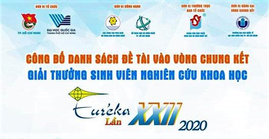 2/4 de tai khoa hoc cua sinh vien HVU xuat sac lot vao vong chung ket Giai thuong Sinh vien nghien cuu khoa hoc - Eureka lan thu XXII nam 2020