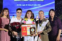 Sinh vien Nguyen Hong Phuong - K14 DH Giao duc Mam non (B) vinh du nhan giai thuong Sao Thang Gieng cap Trung uong nam 2019