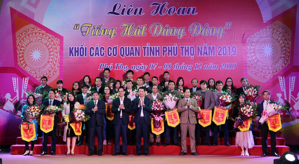 """Doi van nghe Truong Dai hoc Hung Vuong dat giai cao tai Lien hoan """"Tieng hat dang Dang"""" Khoi cac co quan tinh Phu Tho lan thu I nam 2019"""