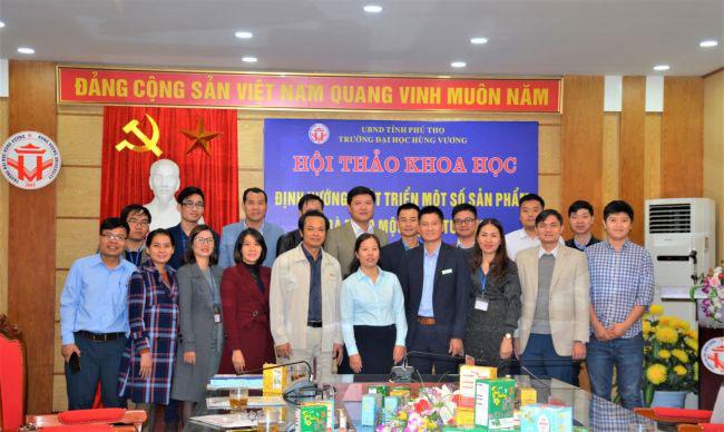 "Truong Dai hoc Hung Vuong to chuc Hoi thao khoa hoc: ""Dinh huong phat trien mot so san pham tra thao moc dang tui loc"""
